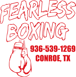 Fearless Boxing Vector Logo RED
